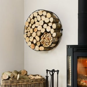 Harrod Circular Wire Log Holder wall Mounted