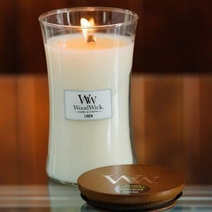 Large Woodwick Scented Crackle Candles