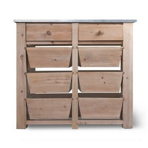 Aldsworth 8 Drawer Storage Unit with Zinc Top