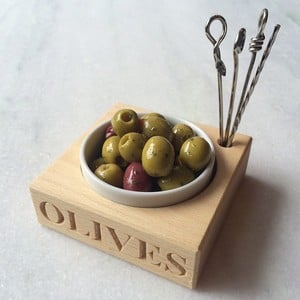 Beech Wood Olive Block and Picks