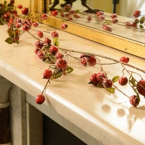 Berries & Ice Christmas Garland by Sia