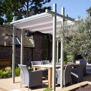 Bespoke Contemporary Pergola with Shade