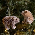 Bristle Bear Tree Decorations (set of 2) by Gisela Graham