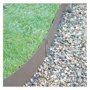 Brown Flexible Steel Lawn Edging Harrod Horticultural Uk