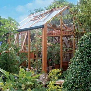 Essential 6ft x 6ft Cedar Greenhouse by Gabriel Ash