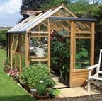 Essential 6ft x 8ft Cedar Greenhouse by Gabriel Ash