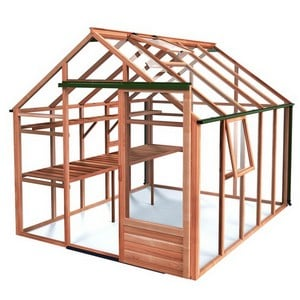 Essential 8ft x 10ft Cedar Greenhouse by Gabriel Ash