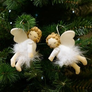 Felt Flying Angels Tree Decorations - Set of 2 - by Sia