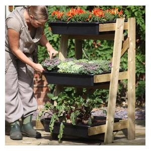 Freestanding Ladder Vegetable Garden with PVC Cover