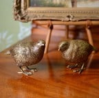 Gold Partridge Decorations by Gisela Graham