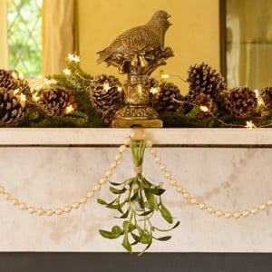 Gold Partridge Stocking Hanger by Gisela Graham