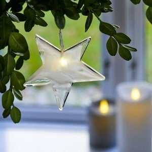 Handmade Glass LED Hanging Tree Decorations