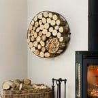Harrod Circular Wire Log Holder (Wall Mounted)