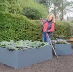 Harrod Metal Raised Bed Planters - Anthracite Grey