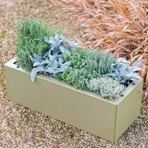 Harrod Trough Metal Planters - Heritage Green