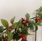 Holly Garland with Berries by Floral Silk