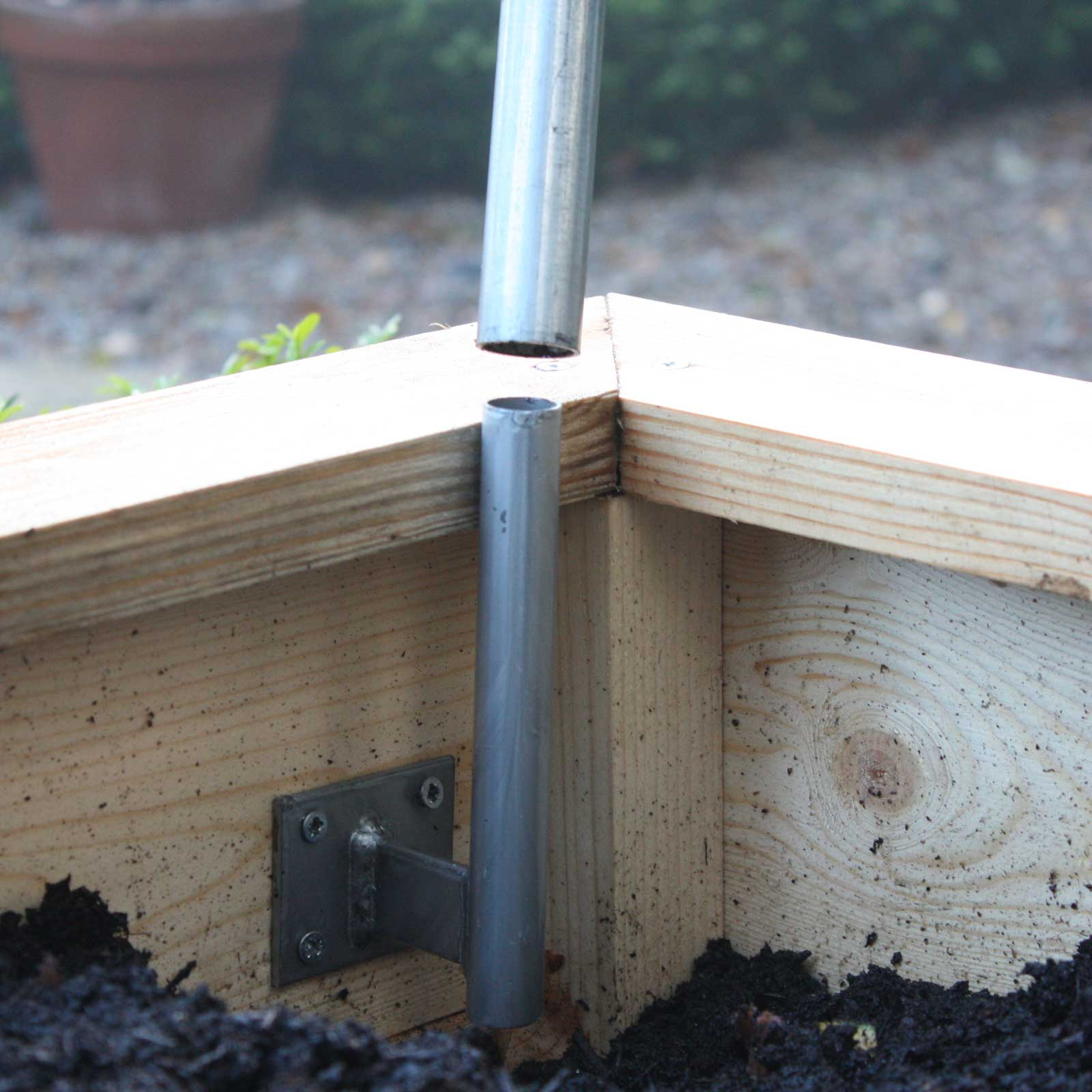 Hoop Brackets For Wooden Raised Beds (Set Of 4)