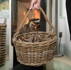 Kindling Basket with Rope Handle