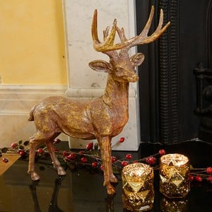 Large Golden Stag by Gisela Graham