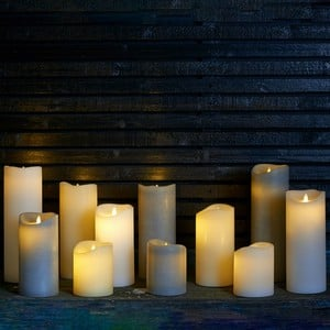 LED Candles with Flickering Flame and Auto Timer