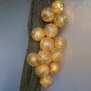 LED Glitter Ball Garlands