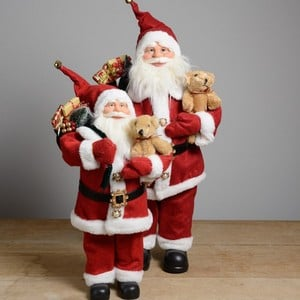 Luxury Standing Santa with Teddy by Floral Silk