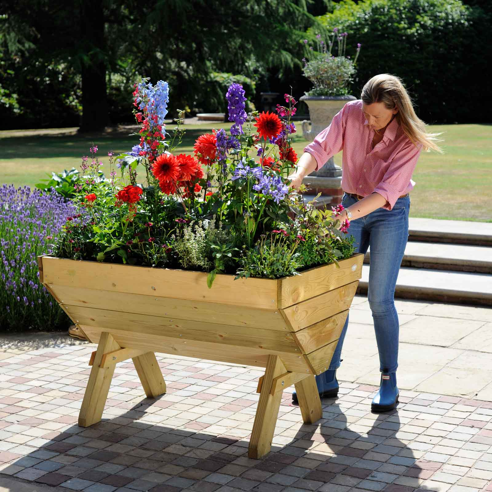 Wooden Plant Trough Raised Planters At Harrod Horticultural