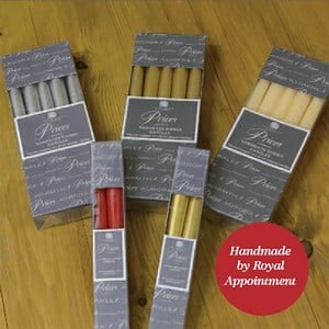 Price's Handmade Tapered Dinner Candles (25cm)