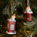 Robin on Telephone Box and Robin on Post Box (Set of 2)