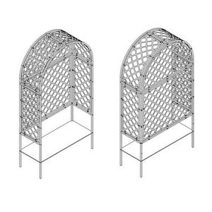 Roman Fully Latticed Arbour-Bespoke Design