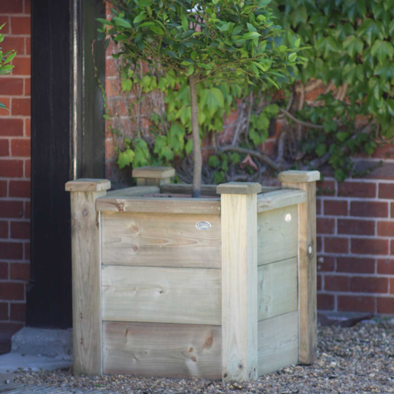 Square Wooden Planters Harrod Horticultural