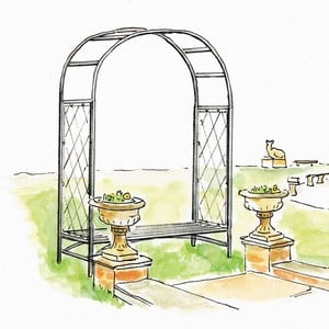 Standard Half Lattice Arch with Bench