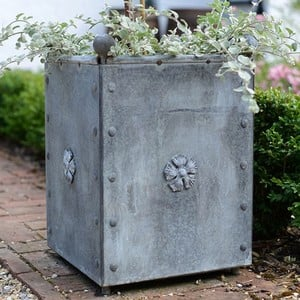 Traditional Galvanised Steel Planters